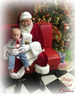 Grayson with Santa