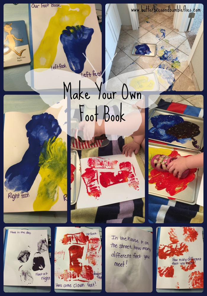 make your own foot book