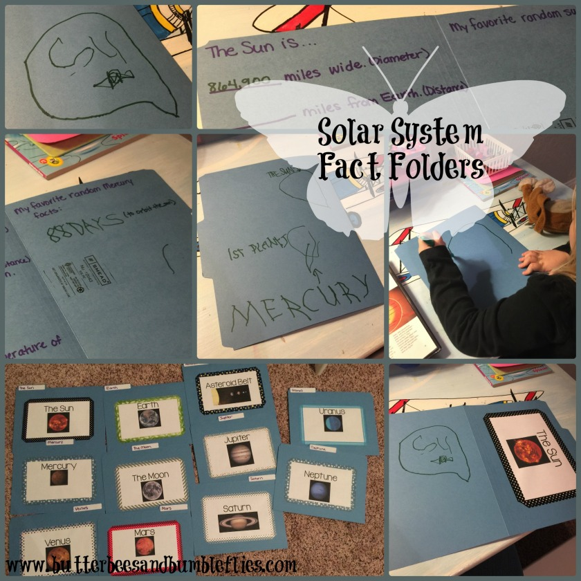 solar system fact folders