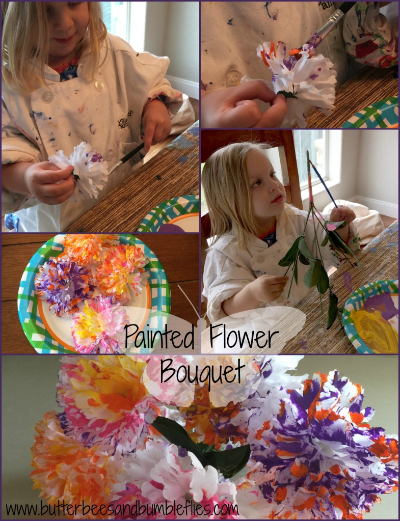 painted flower bouquet